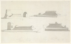 Drawing from a set of 16 architectural details in N. India made between 1786 and 1792 1808